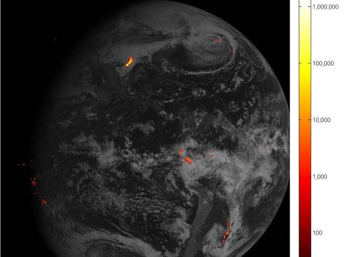 气象卫星GOES-16专门追踪闪电及雷暴。