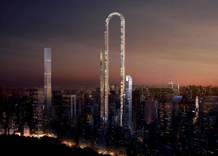 """""""大笨拱""""可望成为成为纽约巿另一观光地标。"""