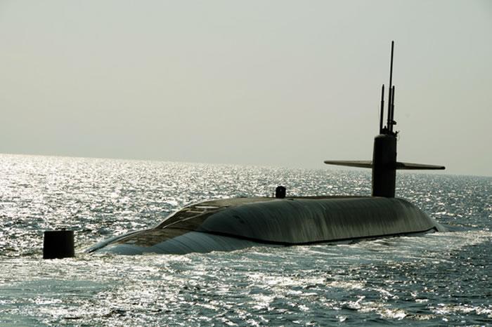 美国俄亥俄级核子潜艇马里兰号(Maryland,SSBN 738)。
