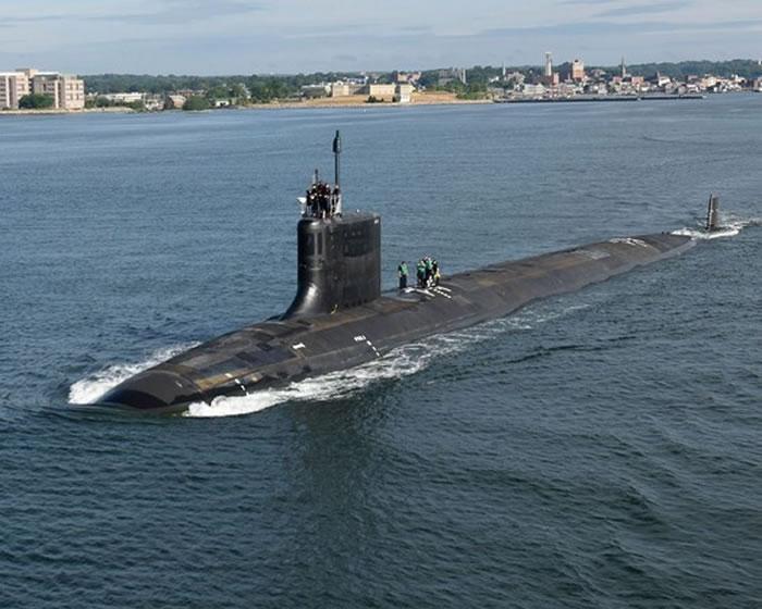 美国维吉尼亚级核动力攻击潜舰USS Illinois (SSN-786)。