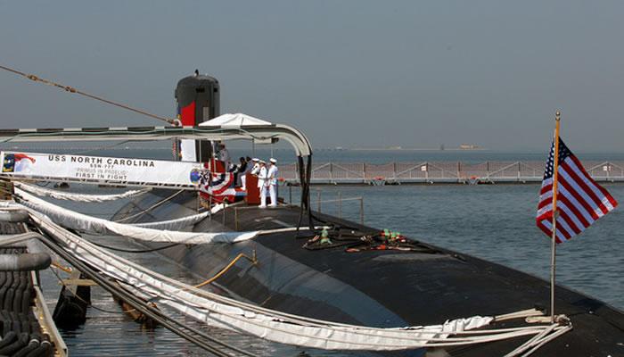 美国海军维吉尼亚级北卡罗来纳号核潜艇(North Carolina)。