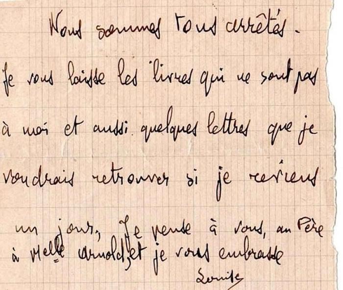 皮科夫斯基最后留下的纸条。