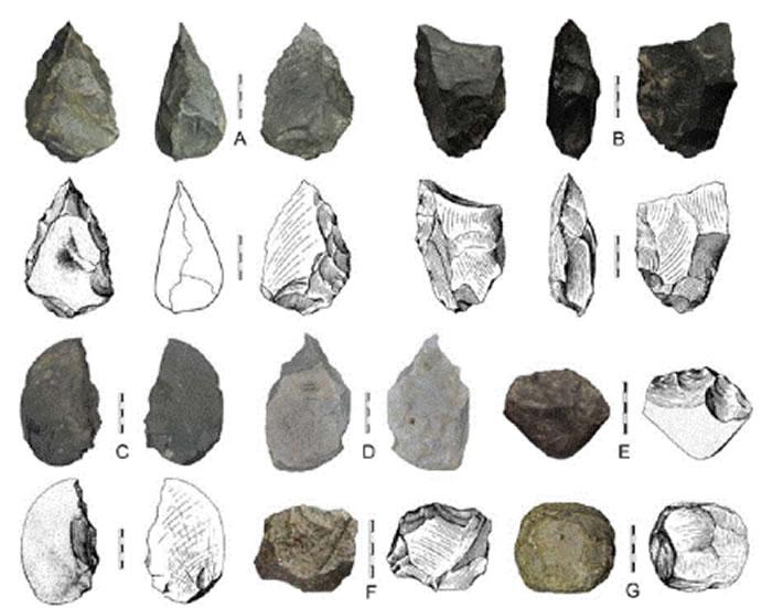 三门峡盆地发现的阿舍利石器