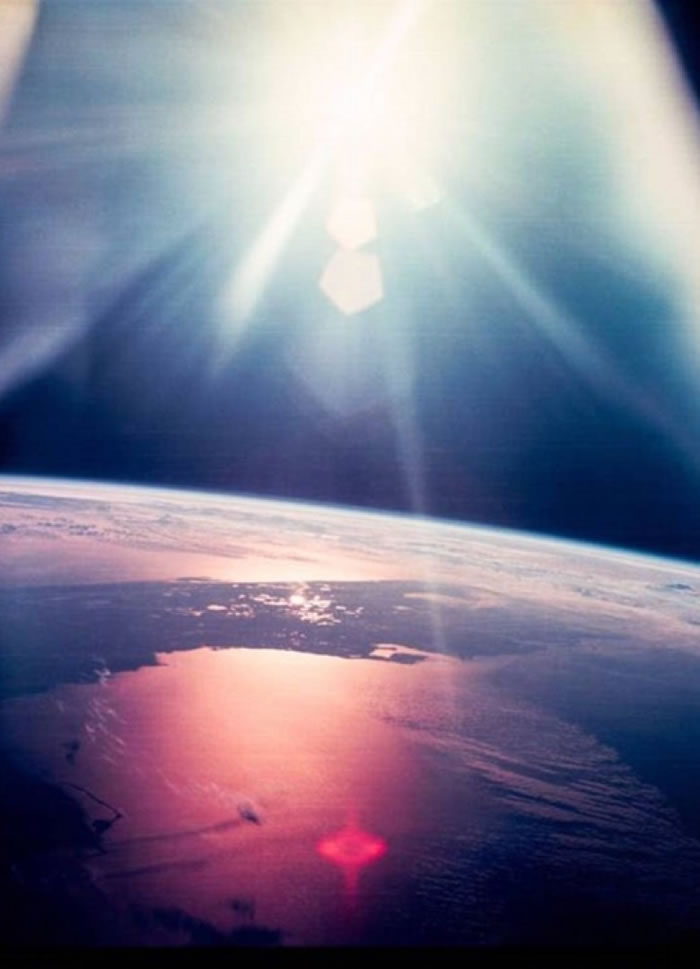 阿波罗12号太空人从高空拍摄美国佛罗里达州。
