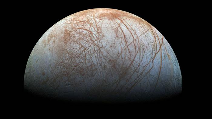 木卫二 欧罗巴上的红褐色纹路(图/取自NASA官网)
