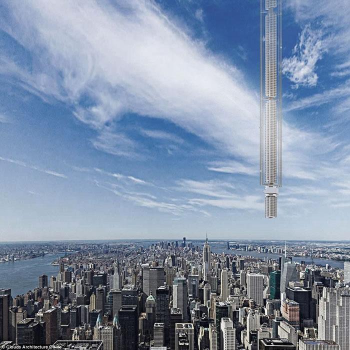 美国纽约云端建筑工作室推超高层大楼Analemma
