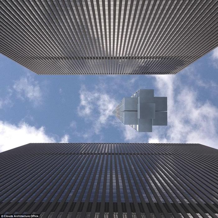 美国纽约云端建筑工作室推超高层大楼Analemma Tower 将从外太空往地球表面兴建