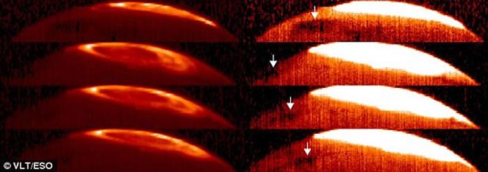 """英国科学家透过智利天文望远镜发现木星上层大气有面积比地球更大的第二个""""大红斑"""""""