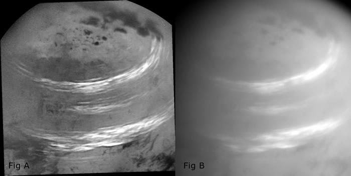 卡西尼于2017年5月7日拍下的泰坦夏季云带。