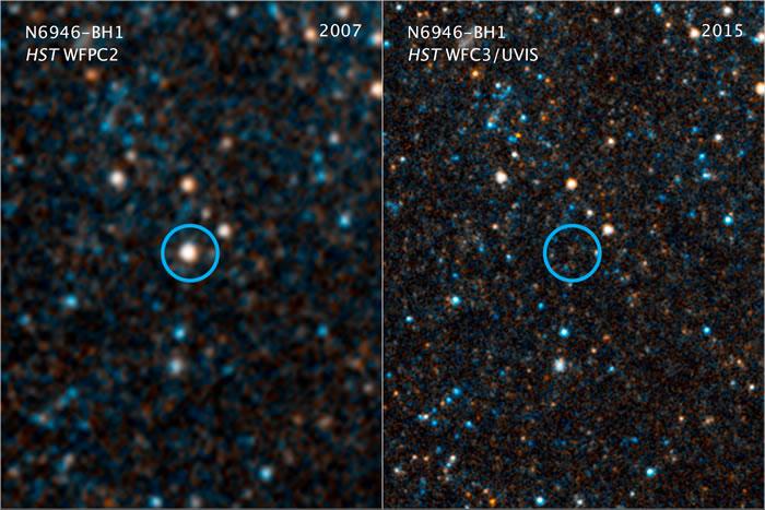 N6946-BH1恒星至2015年再也看不到光芒。