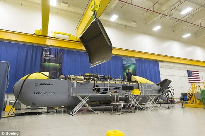 """波音公司为美军开发全自动的无人潜艇""""回声航行者""""Echo Voyager"""