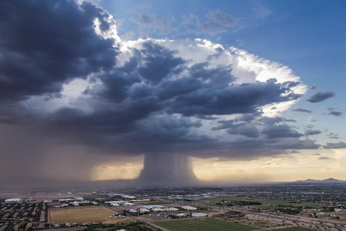 美国凤凰城曾经出现过这种自然现象