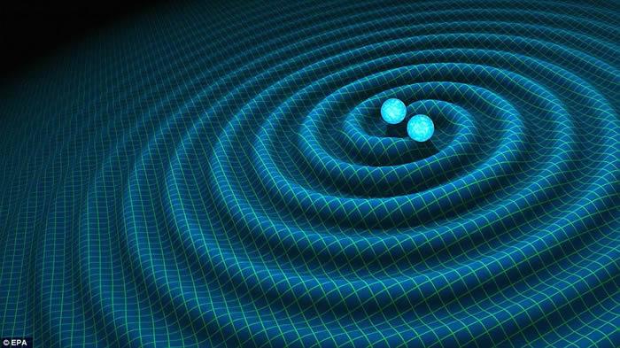 两个在30亿年前相撞的大质量黑洞传出的重力波冲过地球