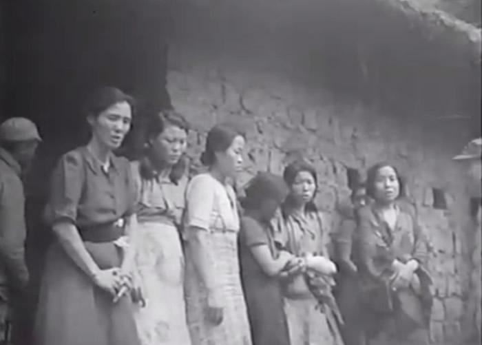 从新片段可见,该批慰安妇接受中美联军问话,当中包括朝鲜人。