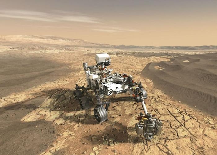 """NASA构想""""火星2020""""登陆后的情况。"""