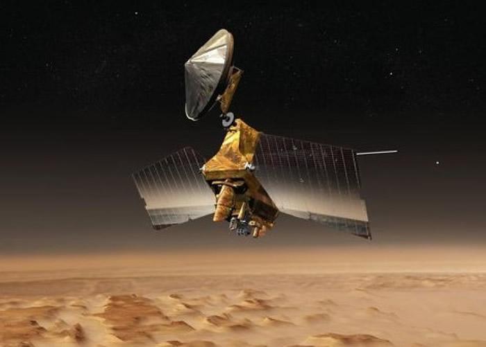 2005年出发的火星侦察轨道器,发现火星过去有水的痕迹。