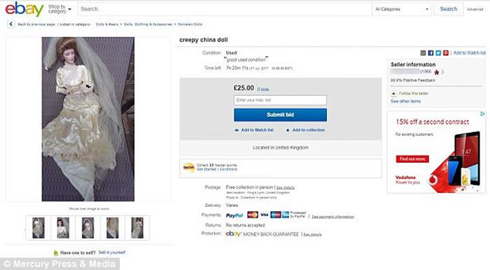 英国诺福克郡女子在古董二手店买到洋娃娃 它半夜走动伸爪割伤腿