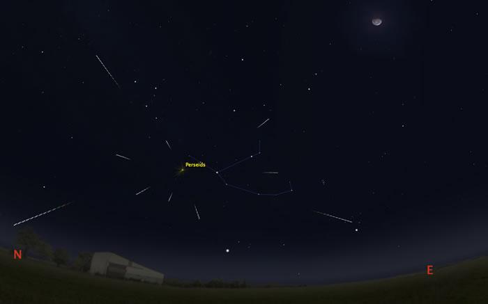 """北半球三大流星雨之一的""""英仙座流星雨""""极大期预计在今晚22时起盛大登场"""