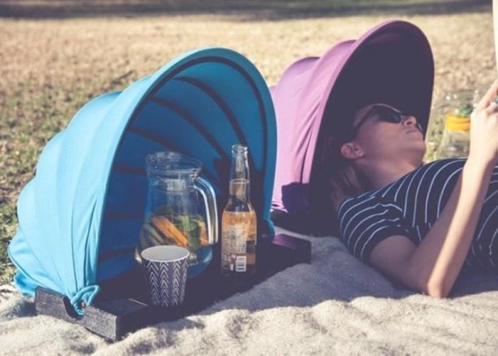 """澳洲企业设计出一款迷你型""""太阳伞""""。"""