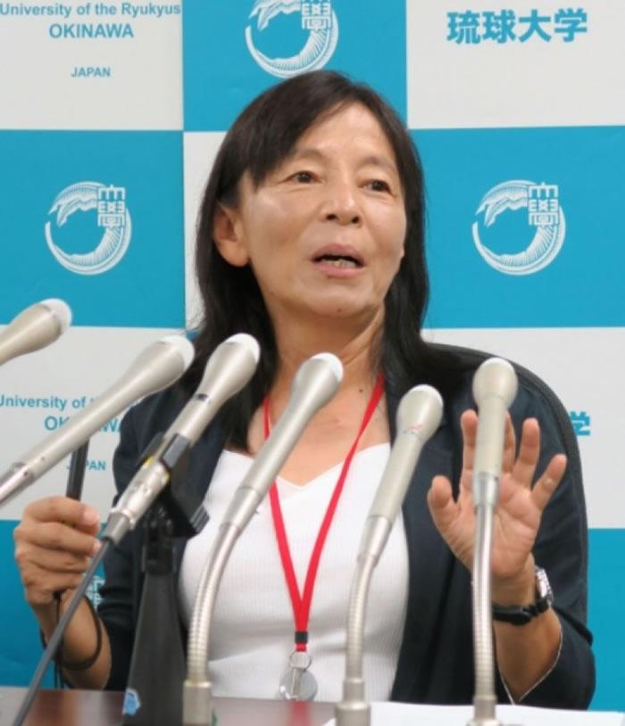 琉球大学的伊泽雅子教授在记者会上公开片段。