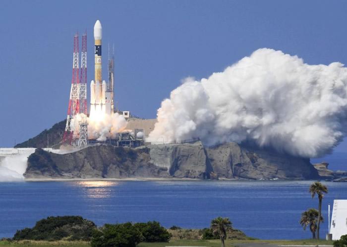 """日本于鹿儿岛县种子岛宇宙中心,发射一枚搭载""""引路3号""""。"""