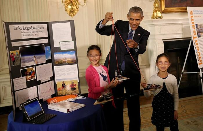 二人曾获奥巴马(中)接见。