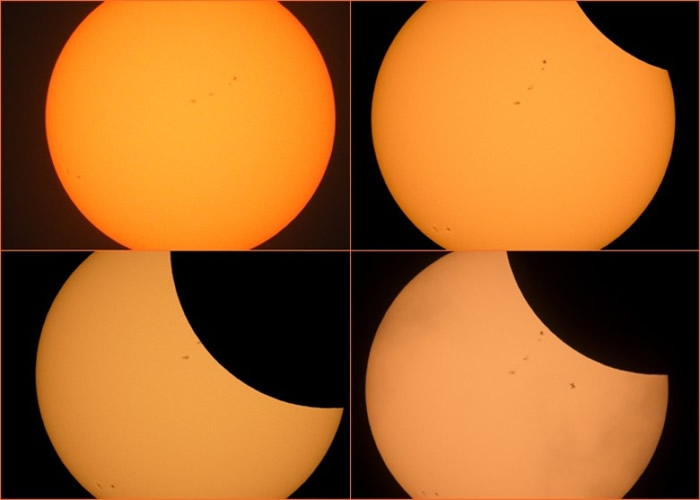 美国太空总署(NASA)全程直播日食过程。