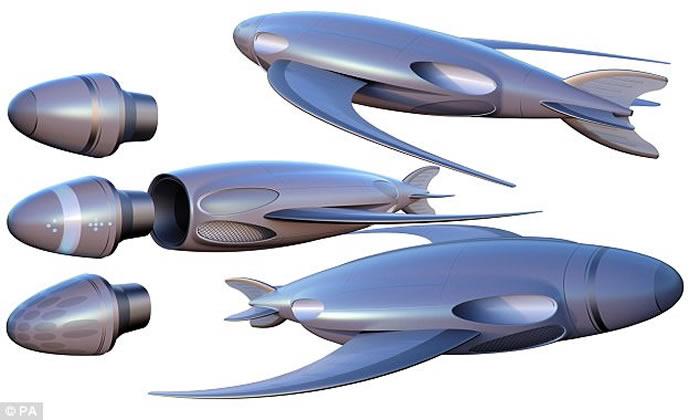 """英国海军发展未来概念潜艇 """"鹦鹉螺100号""""可以透过船员的念力操控航行"""