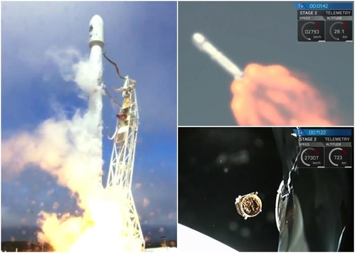 福卫五号透过美国的猎鹰9号火箭承载成功发射升空。