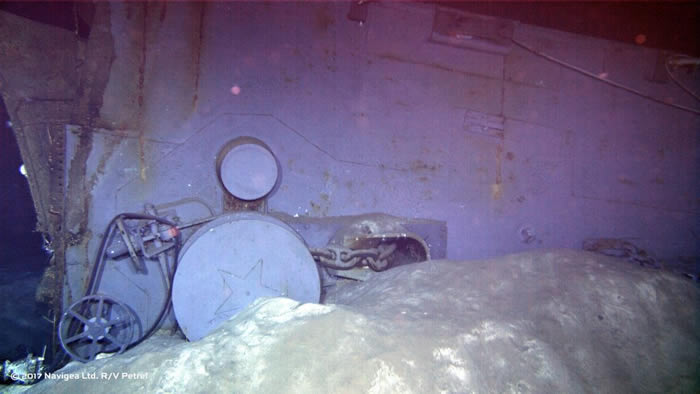沉没72年的美国海军二战巡洋舰印第安纳波利斯号更多残骸照曝光