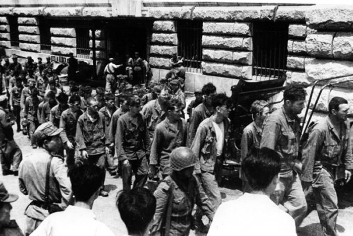 被俘虏的美军士兵。