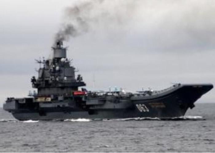 俄罗斯「库兹涅佐夫号」(Admiral Kuznetsov)航空母舰。