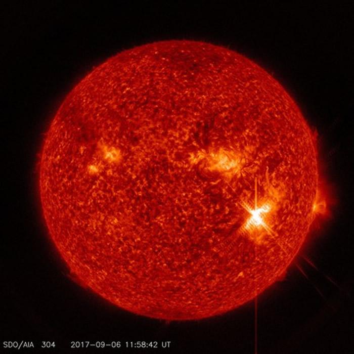 太阳爆发12年来最强闪焰。
