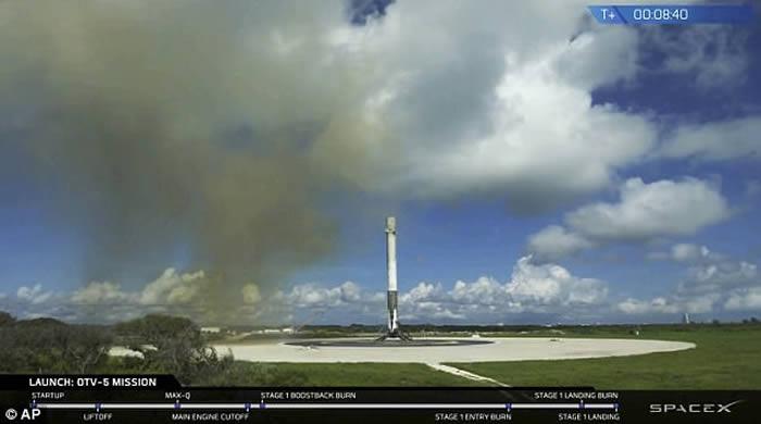 美军X-37B无人试验机首度搭乘SpaceX的猎鹰9号火箭上太空