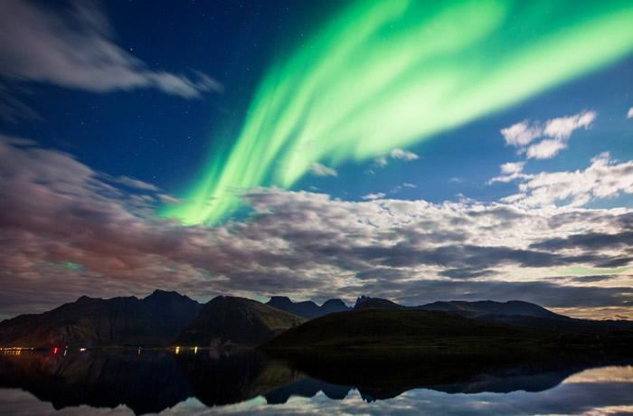 挪威多处可以目睹极光。