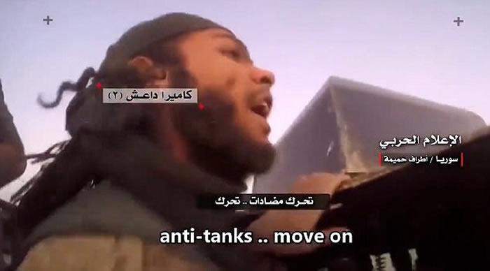 伊斯兰国(ISIS)圣战士意外捕捉到自己被坦克炸飞瞬间影像