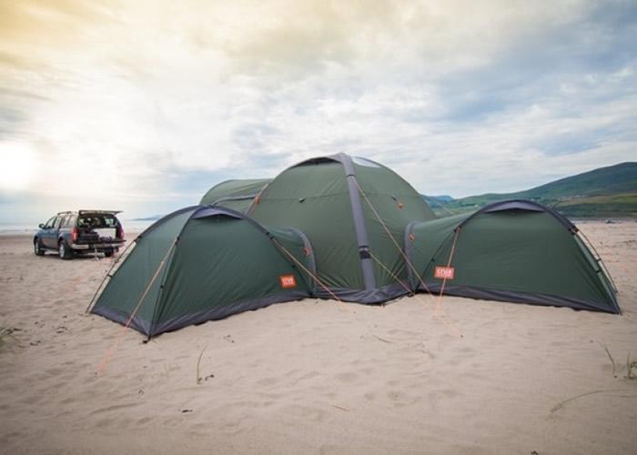 帐篷可因应需要,自由组合。