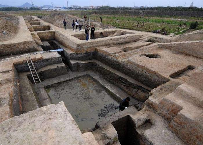 良渚文化遗址。