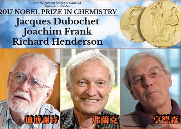 三名获奖科学家分别来自瑞士、美国及英国学府。
