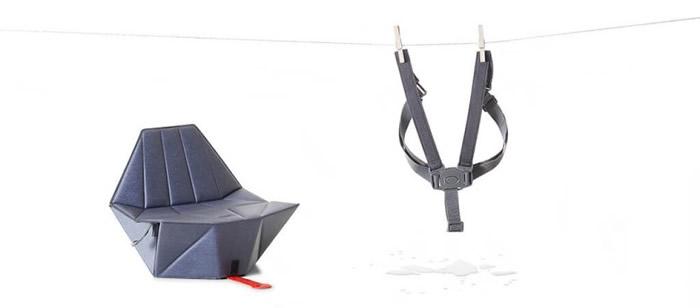 坐垫采用三点式安全带。