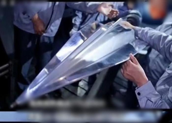 高超音速飞行器的测试模型。