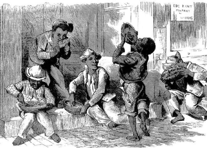 有嘲笑黑人懒惰的乐谱,亦将西瓜连系起来。