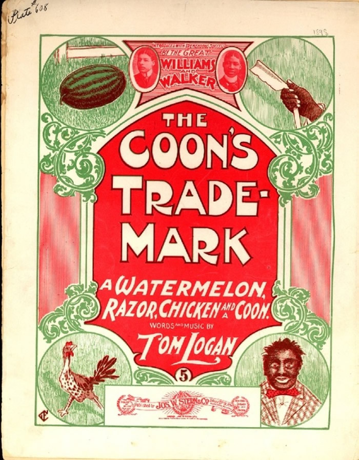 当时传媒刊登将黑人与西瓜联系起来的负面漫画,加深民众对西瓜的刻板印象。图为相信是首张有关的漫画。