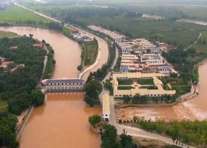 图为宁夏引黄古灌区。