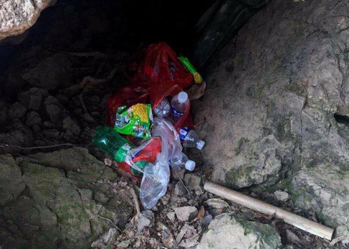 疑犯盗墓前准备充足,带备有大量饮料。