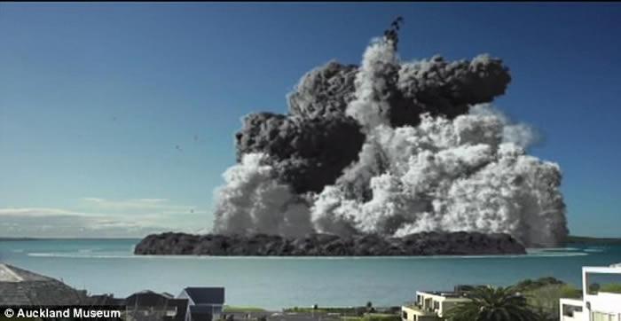 拉瑟福德奖:模拟新西兰豪拉基湾海底火山爆发 海啸直卷沿岸