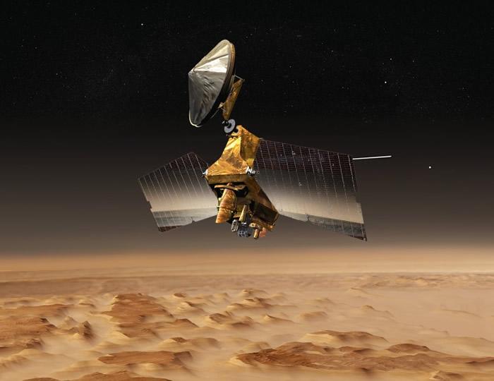 数据由NASA的火星探测轨道飞行器(图)采集得来。