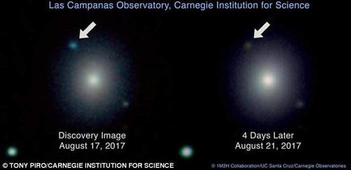 人类第一次探测到来自2颗中子星相撞产生的引力波