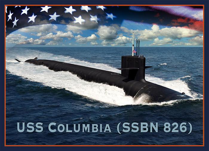 哥伦比亚级核潜艇的CG图