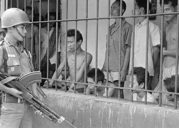 当年有大批的印尼共产党员被监禁。